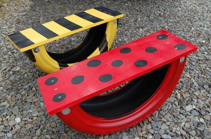 Staré pneumatiky k pobavení dětí i dospělých 6