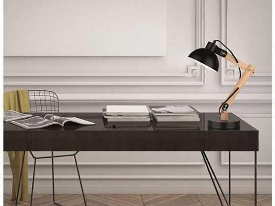 Stojací a stolní lampa v moderním interiéru převzala roli designového solitéru (Zdroj: e-light.cz)