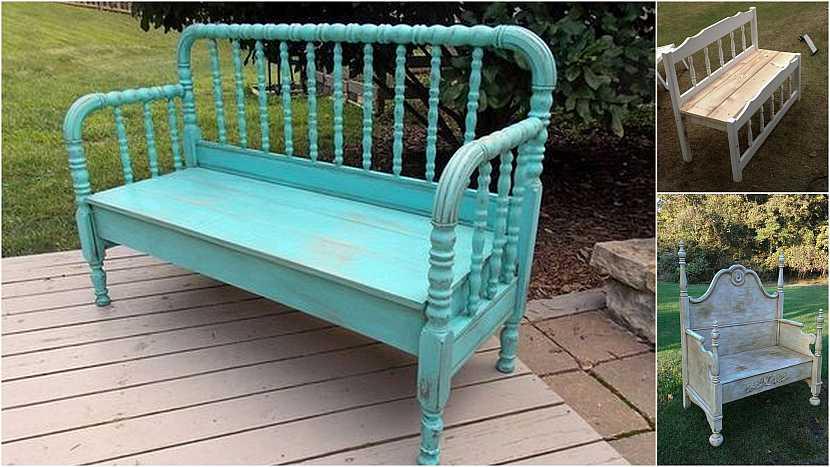Netradiční lavičky do zahrady: Lavice z postele