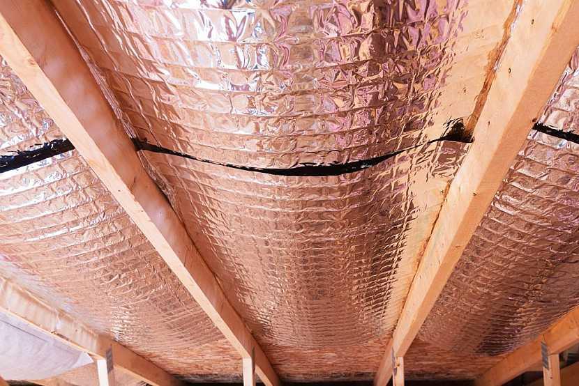 Parozábrana pro zateplení může být opatřena navíc hliníkovou vrstvou