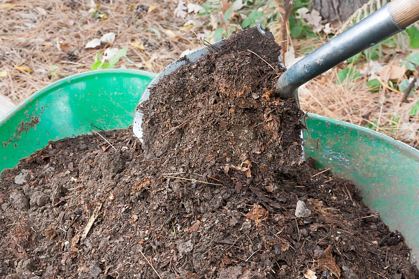 Zemina s kompostem