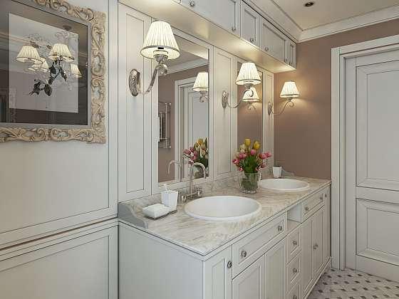I v koupelně potřebujete něčím svítit, jak ale připevnit nástěnné svítidlo na dlaždičky? (Zdroj: Depositphotos (https://cz.depositphotos.com))