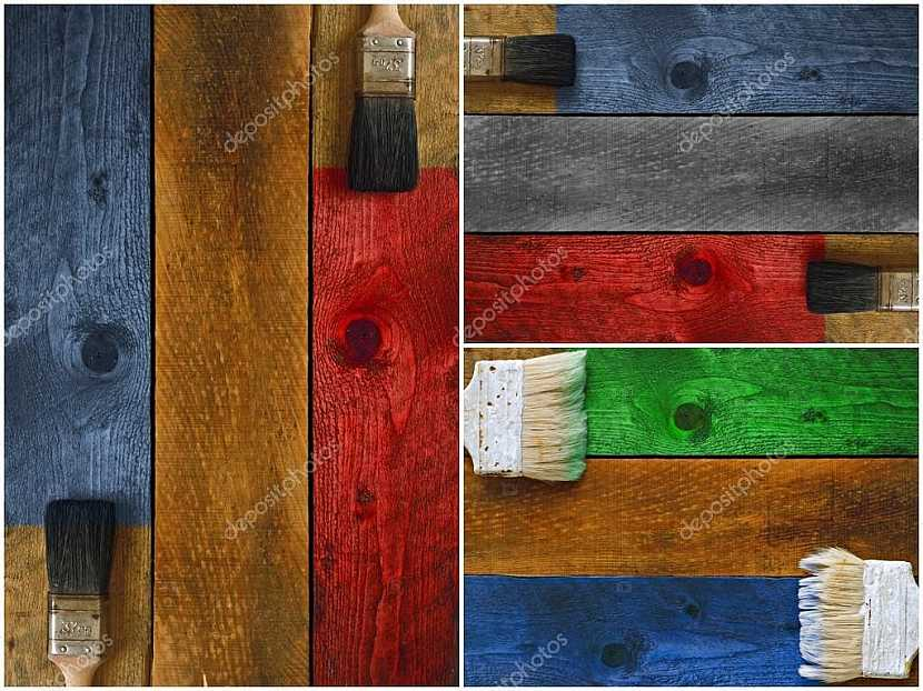 Mořením dřeva, jeho barvením, můžeme dosáhnout různých odstínů