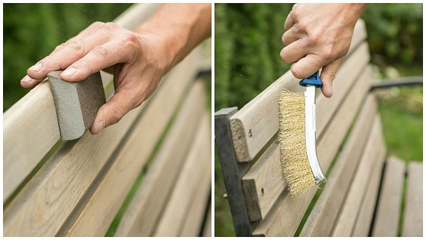 Jak dát staré dřevěné lavičce nový look: příprava povrchu