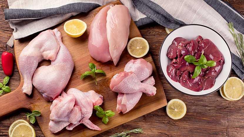 Jednotlivé části kuřete vypadají takto