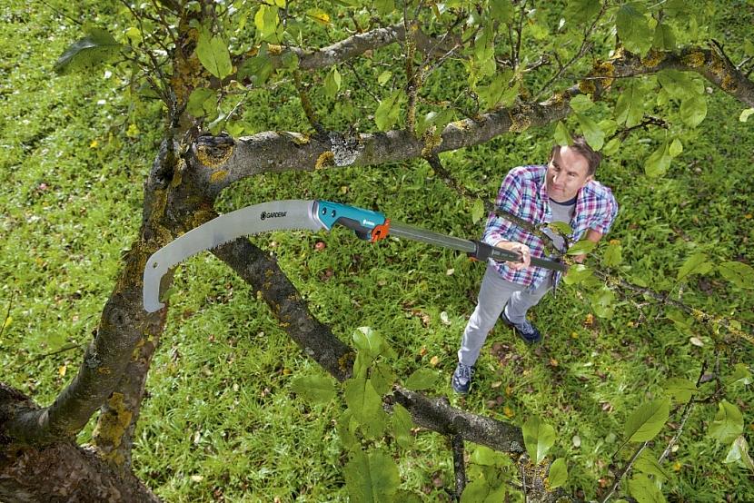Optimální úhel řezu, dokonce i na nejvyšších místech v koruně stromů