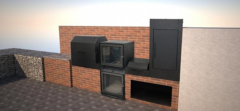 Venkovní kuchyně Bef Home může stát samostatně nebo je možné ji zakomponovat do prostoru pergoly či altánu