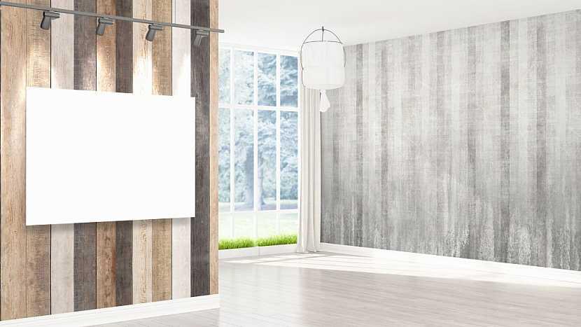 Jednoduchost sálavých panelů i přesto ozdobí prostor