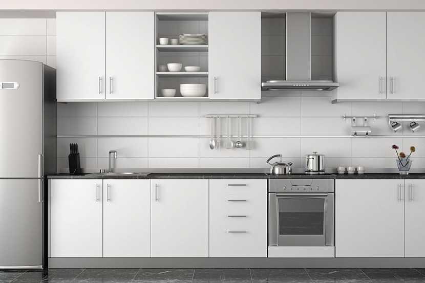 Lineární kuchyně je dispozičně vhodná do malých prostor