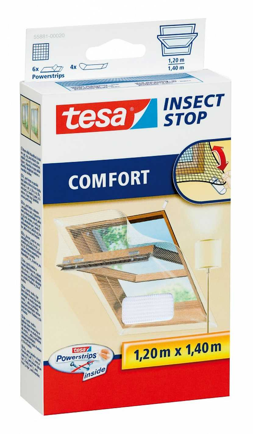 tesa sítě proti hmyzu pro střešní a posuvná okna