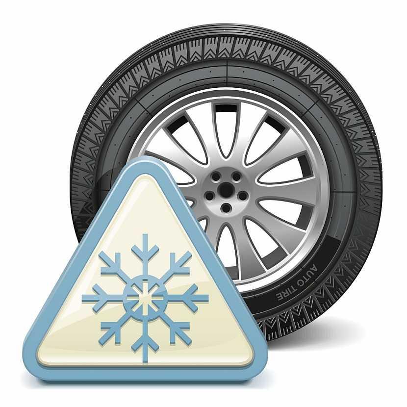 Symbol vločky značí zimní pneumatiky
