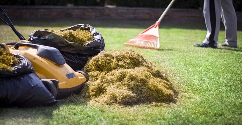 Zbytky travní masy – mech, plsť, plevel z trávníku důkladně odstraňte a ideálně zkompostujte
