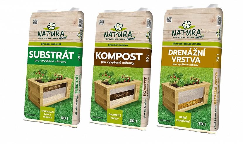 NATURA_Výrobky substrát, kompost, drenážní vrstva