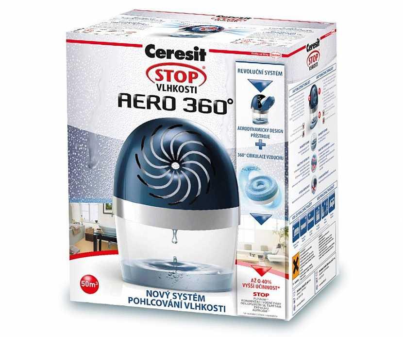 Ceresit Stop Vlhkosti Aero 360° – zatočte s vysokou vzdušnou vlhkostí i v malých prostorách