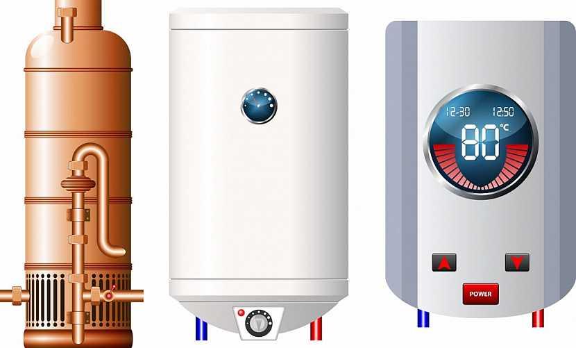 Na výběr jsou různé druhy ohřívačů vody