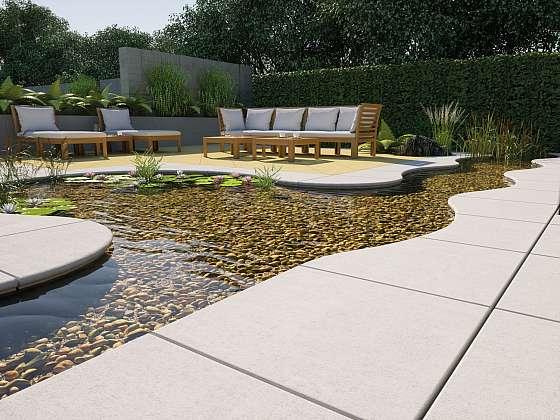 Okolí bazénu si zaslouží krásnou příjemnou kvalitní dlažbu (Zdroj: PRESBETON Nova s.r.o.)