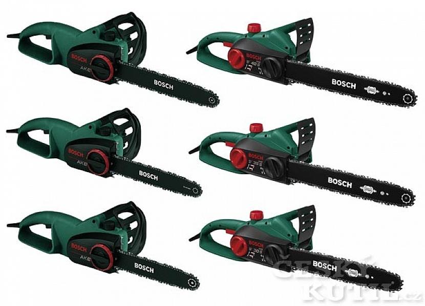 Nové řetězové pily Bosch AKE se silnými motory