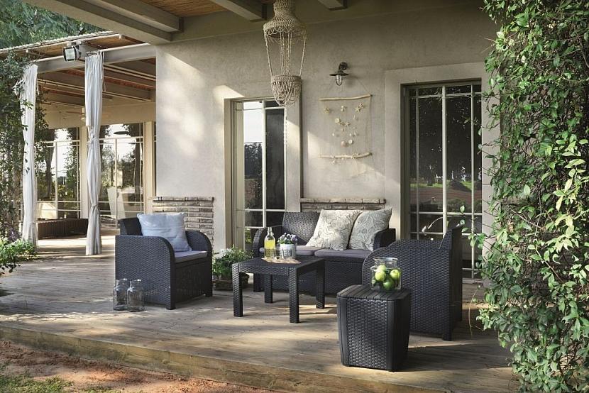 Velmi oblíbený, snadno udržovatelný a pohodlný je nábytek z umělého ratanu