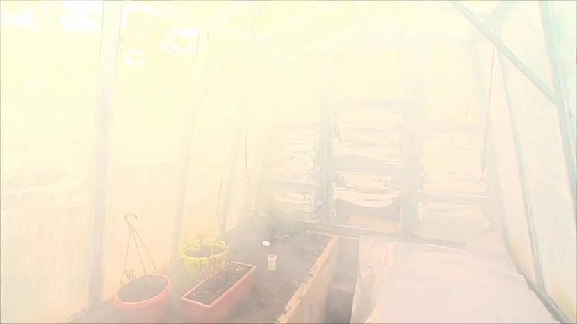 dým ve skleníku