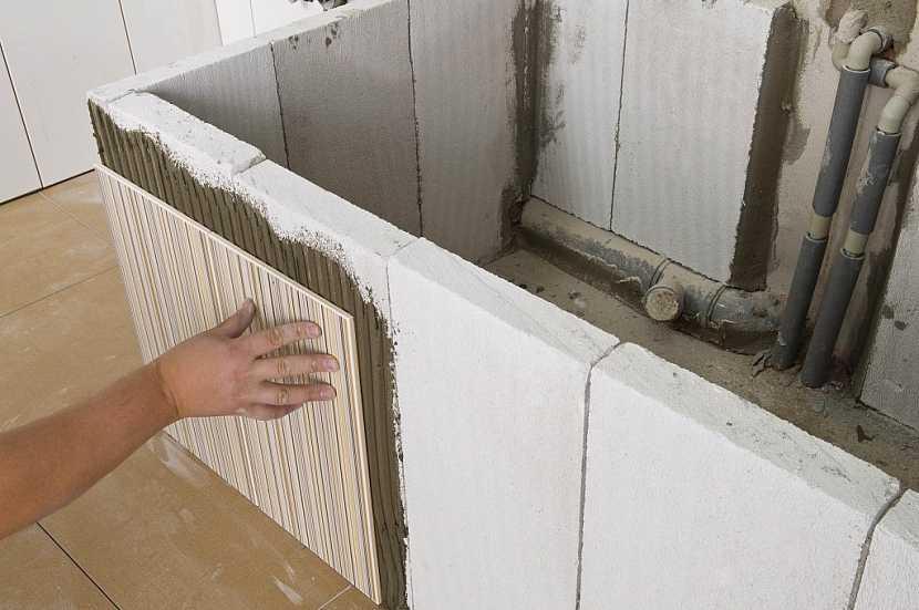 7. Řešení obkládání atypických míst v koupelně