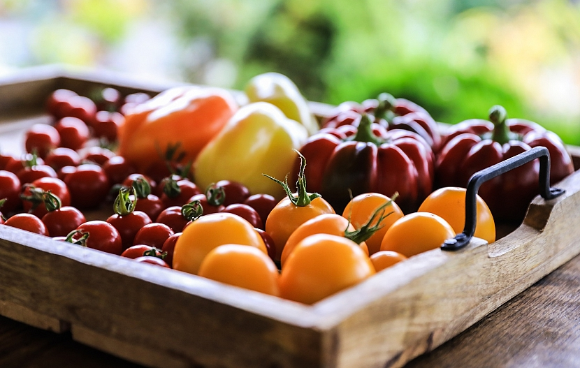 Rajčata vyskládejte na tác