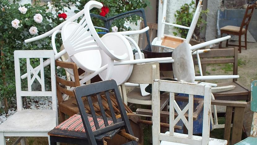 Lavice ze starých židlí: vybereme si tři židle