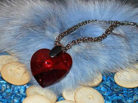 Byzantský řetízek s velkým srdcem
