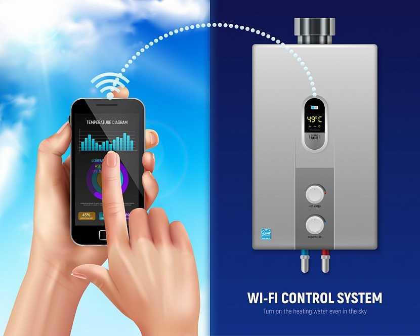 Moderní, tzv. chytré ovládání bojleru prostřednictvím dálkového ovládání nebo mobilu