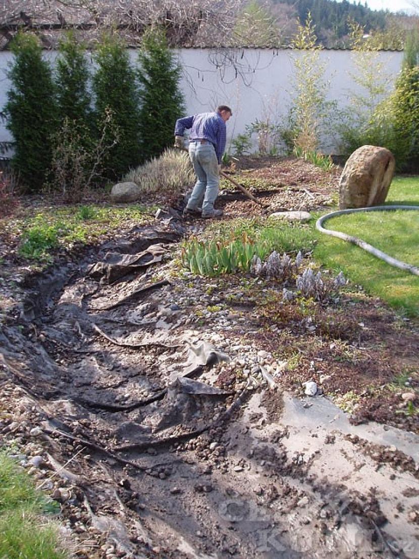 Stavba a rekonstrukce umělého potoka – 1. díl