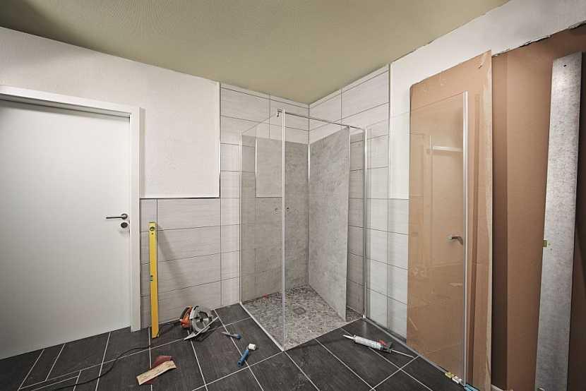 Vytyčení sprchového koutu