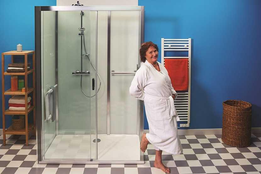 Sprchový box VINATA je ideálním řešením nejen pro seniory