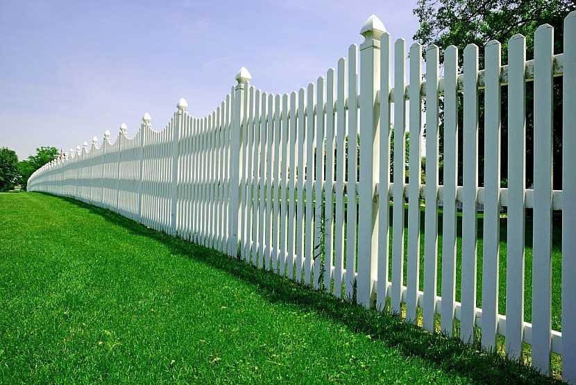 bílý dřevěný plot