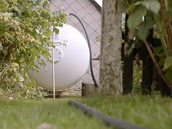Velkokapacitní nádrž na kapalný propan (Zdroj: Prima DOMA MEDIA, s.r.o.)