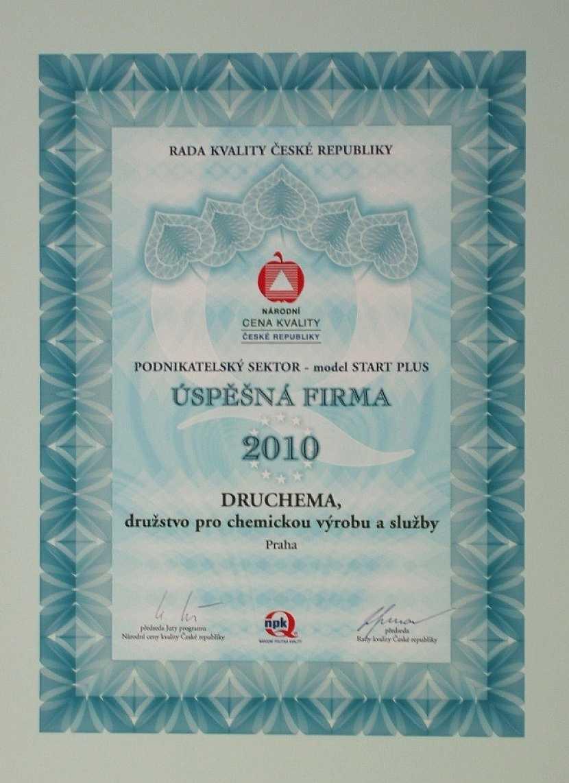 Druchema získala jednu z Národních cen kvality ČR