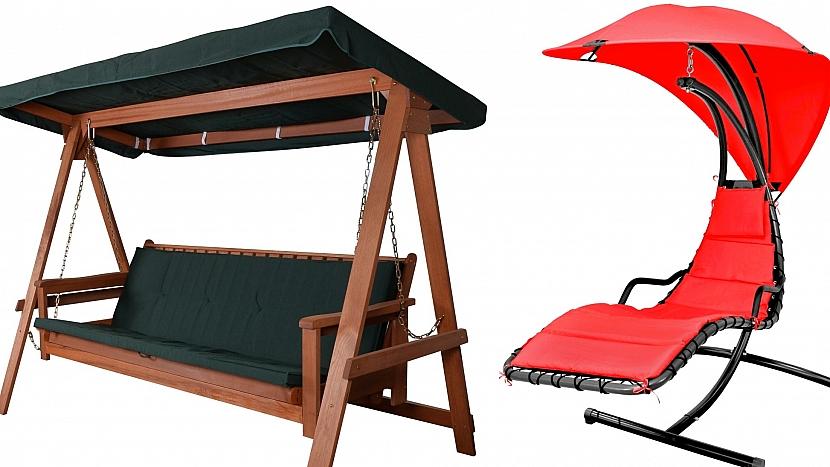 Zahradní nábytek: houpací lavička BAHARU a houpací křeslo DREAM R