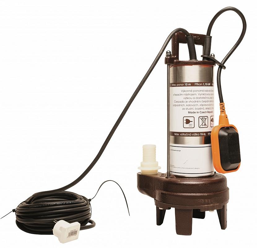 Kalové čerpadlo Septik Praktik je výkonné kalové čerpadlo s řezacím zařízením. Jde o robustní čerpadlo, ideální k čerpání silně znečištěných odpadních, kalových i záplavových vod, surových vod ze studní, bazénů, sklepů, sudů, jímek, stavebních výkopů…
