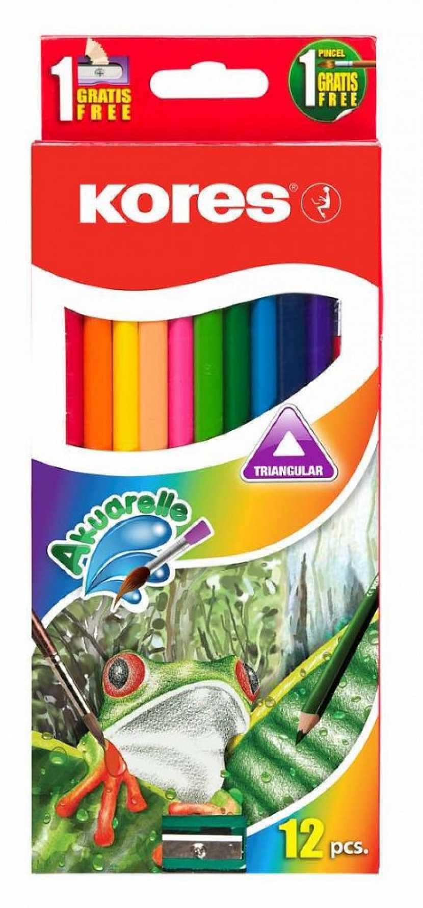 Malování akvarelovými pastelkami Kores Akuarelle