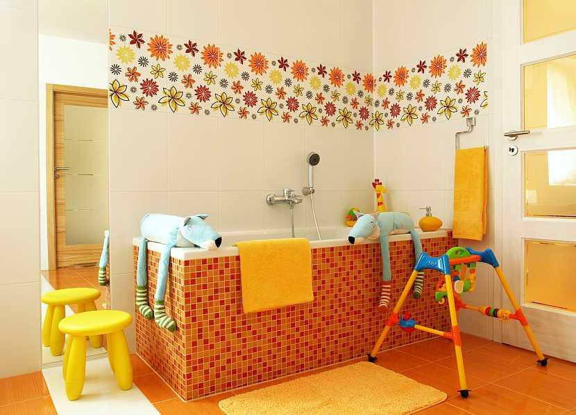 Barevná koupelna pro děti