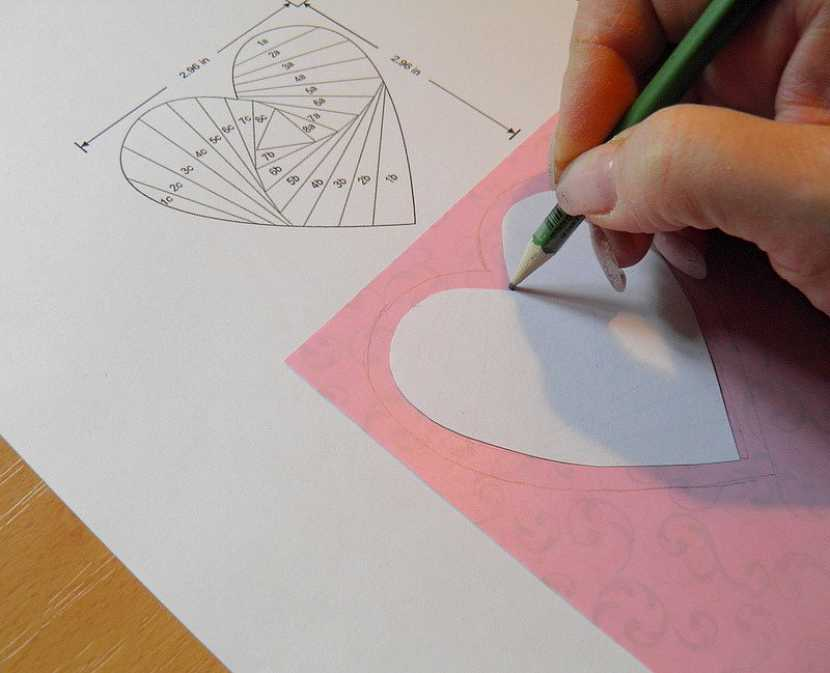 Technika iris folding – přáníčko