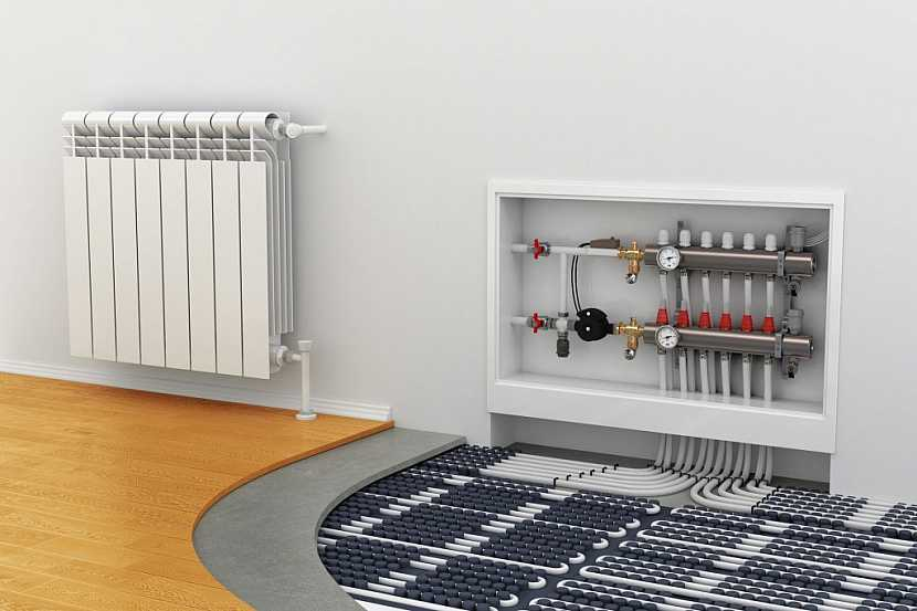 Podlahové topení je vhodné pod laminát, linoleum, pvc nebo litou podlahu