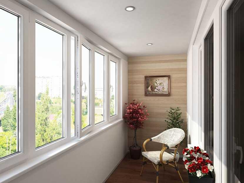 Balkon může být i zcela zasklen, čímž z prostoru vznikne další místnost