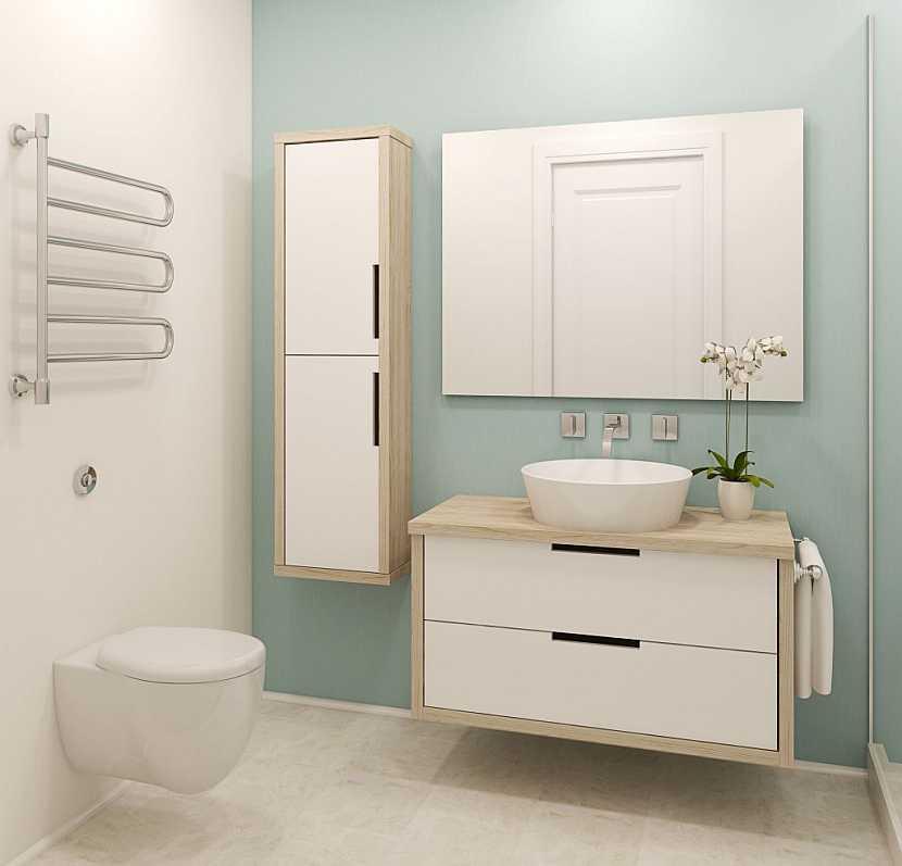 Koupelnová skříňka z laminované dřevotřísky se snadno udržuje