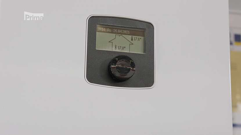 displej plynového kotle