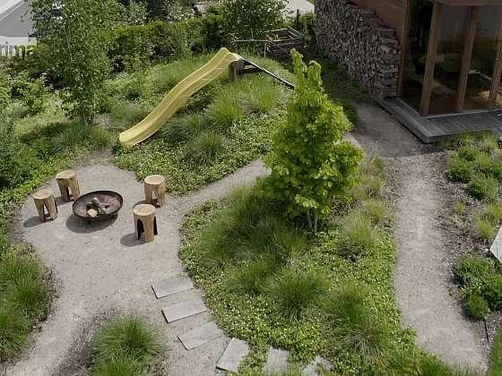 Promyšleně řešený návrh a realizace zahrady přináší uživatelům radost z pobytu venku (Zdroj: Prima DOMA)