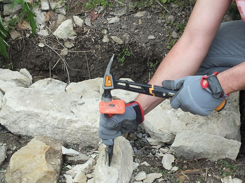 přizpůsobíme tvar kamenů