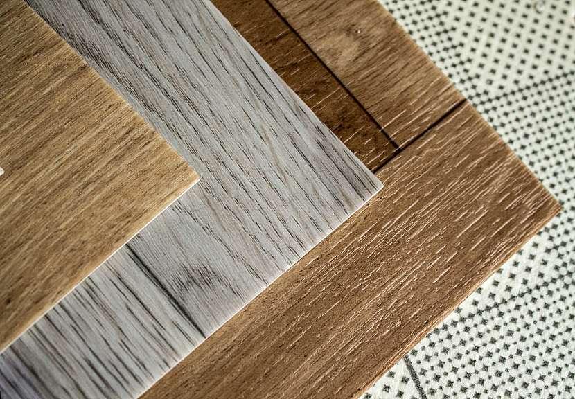 Různé druhy lino podlahy