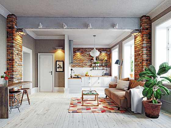 Bělené podlahy vypadají velmi pozitivně. Dokáží prosvětlit a aspoň opticky provzdušnit celou místnost. Bělené dřevěné podlahy můžete mít i vy (Zdroj: Depositphotos)
