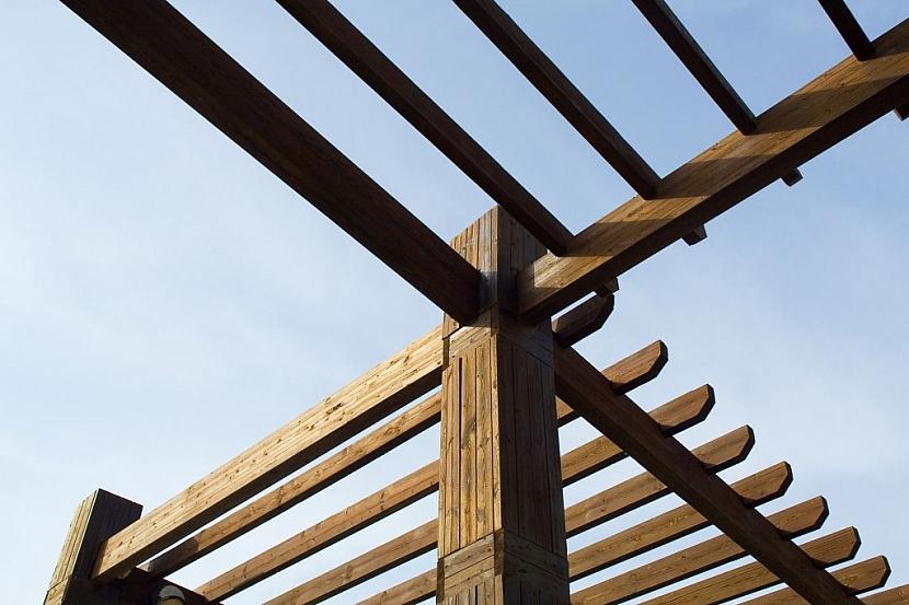 Pergola nemusí mít vždy střechu s krytinou, může být i otevřená