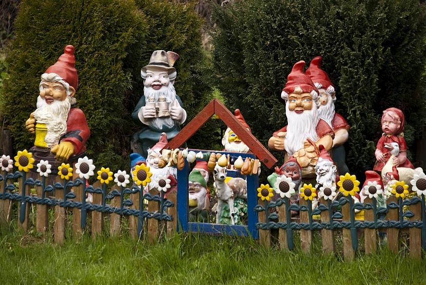 Zahrada s trpaslíky