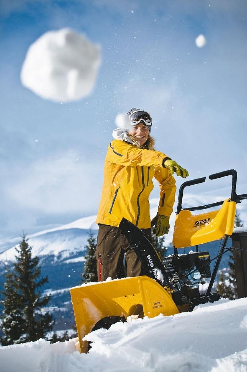Jaké použít stroje na úklid sněhu?